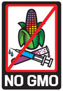 No gmo label prohibited sign stop genetically modified foods icon Royalty Free Stock Photography