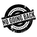 No Going Back rubber stamp