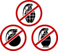No grenades illustration Stock Photography