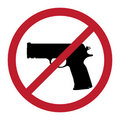 No gun symbol Stock Photo