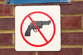 No guns sign Royalty Free Stock Image