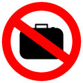 No hand baggage vector sign Stock Photo