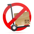 No hand trucks allowed illustration Royalty Free Stock Photo