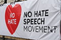 No hate speech movement banner Stock Photos