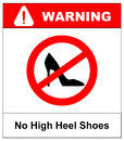 No high heel shoes sign on white background. vector illustration Royalty Free Stock Photo