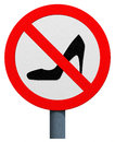 No high heels sign isolated on white background Royalty Free Stock Images