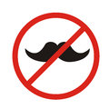 No hipsters allowed, no mustaches allowed - sign.