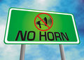 No horn sign board Stock Image