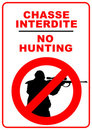 No hunting Royalty Free Stock Photo