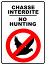 No hunting sign Stock Photos