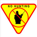 No Hunting Sign Royalty Free Stock Images
