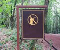 `No hunting` sign in forest. Royalty Free Stock Photo