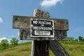 No Hunting or Trespassing Royalty Free Stock Photo