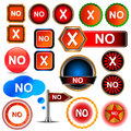 No icons set Royalty Free Stock Images
