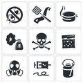 No insects icon set on a white background Royalty Free Stock Photo