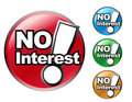 NO Interest Icon Sale Set Royalty Free Stock Images