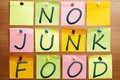 No junk food Royalty Free Stock Photos