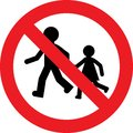 No kids play sign