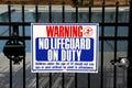 No Lifeguard Royalty Free Stock Photography