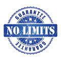 No limits guarantee stamp with stars blue Royalty Free Stock Image