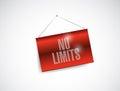No limits hanging banner illustration design over a white background Stock Images