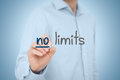 No limits self confidence improvement and motivational concepts Royalty Free Stock Image