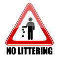 No littering triangle sign Stock Photo