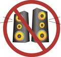 No loud music Royalty Free Stock Photo