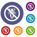 No louse sign icons set