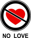 No love! Royalty Free Stock Image