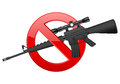 No m weapon sign on a white background Royalty Free Stock Photos