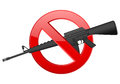 No m weapon sign on a white background Stock Photography