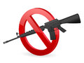 No M16 sign Royalty Free Stock Photos