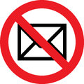 No mail sign