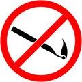 No match sign Vector illustration. Flat design. Royalty Free Stock Photo