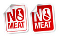 No meat stickers. Royalty Free Stock Photo