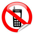 No mobile phone Royalty Free Stock Photo