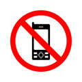 No Mobile Phones Sign Stock Photos