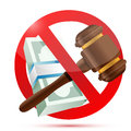 No money and law concept illustration design over a white background Royalty Free Stock Images