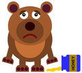 No more honey a cartoon illustration of a bear with a spilled Royalty Free Stock Photo