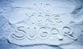 No more sugar sign Royalty Free Stock Photo