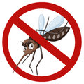 No mosquito sign on white Royalty Free Stock Photo
