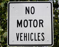 No Motor Vehicles Sign Stock Images