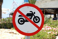 No motorbikes sign Royalty Free Stock Photo