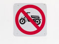 No motorcycle sign Stock Image