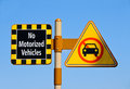 No Motorized Vehicles Royalty Free Stock Photos