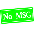 No MSG Royalty Free Stock Photo