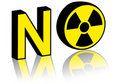 No nuclear power Stock Image