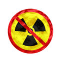 No Nuclear Symbol and texture Royalty Free Stock Photos