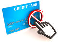 No online credit card Royalty Free Stock Photo